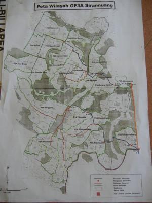 写真3<水利組合と水路の地図>